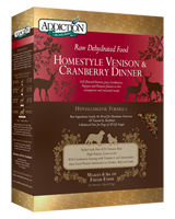 Addiction Food Homestyle Venison & Cranberry Dinner (Package Size: two (2) pounds)