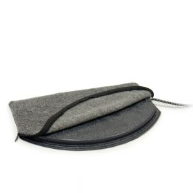 Deluxe Igloo Style Heated Pad Cover (Color: Gray, Size: Large)