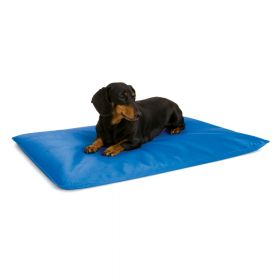 Cool Bed III Thermoregulating Pet Bed (Color: Blue, Size: Small)