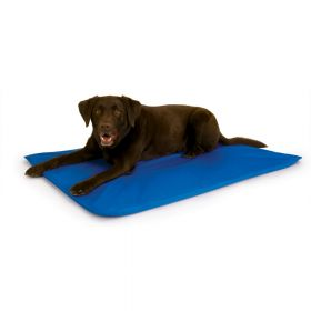Cool Bed III Thermoregulating Pet Bed (Color: Blue, Size: Large)