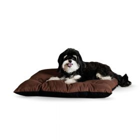 Thermo-Cushion Pet Bed (Color: Chocolate, Size: Large)