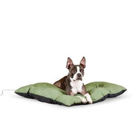 Thermo-Cushion Pet Bed (Color: Sage, Size: Large)