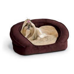 Deluxe Ortho Bolster Sleeper Pet Bed (Color: Eggplant, Size: Medium)