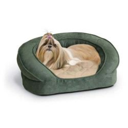 Deluxe Ortho Bolster Sleeper Pet Bed (Color: Eggplant, Size: Large)