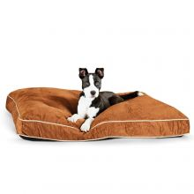 Tufted Pillow Top Pet Bed (Color: Chocolate, Size: Large)