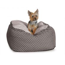 Deluxe Cuddle Cube Pet Bed (Color: Black, Size: Small)