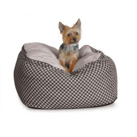 Deluxe Cuddle Cube Pet Bed (Color: Black, Size: Large)