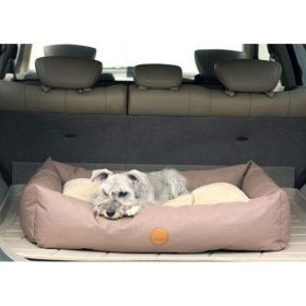 Travel / SUV Pet Bed (Color: Tan, Size: Large)