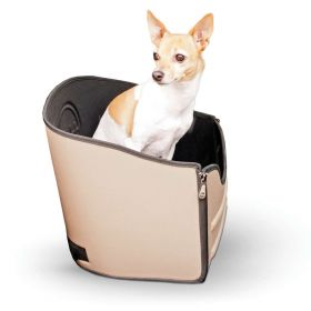 "Mod Pet Safety Seat (Color: Tan, Size: 15"" x 15"" x 15"")"
