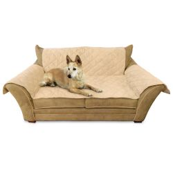 "Furniture Cover Loveseat (Color: Tan, Size: 26"" x 55"" seat, 42"" x 66"" back, 22"" x 26"" side arms)"