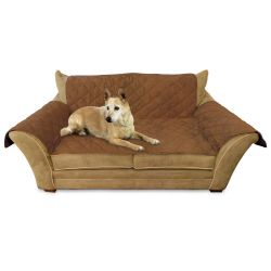 "Furniture Cover Loveseat (Color: Mocha, Size: 26"" x 55"" seat, 42"" x 66"" back, 22"" x 26"" side arms)"