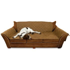 "Furniture Cover Couch (Color: Mocha, Size: 26"" x 70"" seat, 42"" x 88"" back, 22"" x 26"" side arms)"