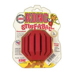 Stuff-A-Ball Dog Toy (Color: Red, Size: Large)