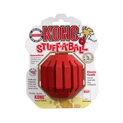 Stuff-A-Ball Dog Toy (Color: Red, Size: Medium)