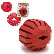 Stuff-A-Ball Dog Toy (Color: Red, Size: Small)