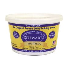 Stewart Pro-Treat Freeze Dried Chicken Liver (Size: 1.5 oz.)