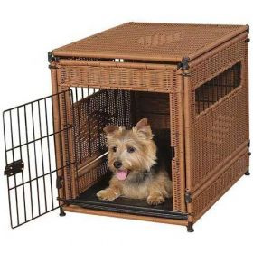 Pet Residence (Color: Dark Brown, Size: Small)