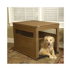 Pet Residence (Color: Dark Brown, Size: Medium)