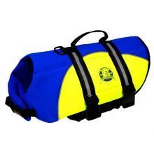 Dog Life Jacket (Color: Blue / Yellow, Size: Extra Small)