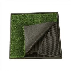 "Pet Loo Plush Replacement Grass (Color: Green, Size: 17"" x 24"")"