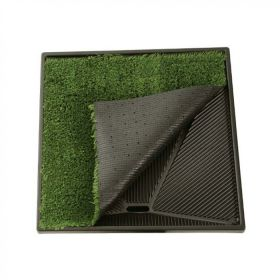 "Pet Loo Plush Replacement Grass (Color: Green, Size: 33"" x 33"")"