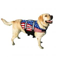 Nylon Dog Life Jacket (Color: Flag, Size: Large)