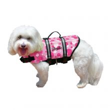 Nylon Dog Life Jacket (Color: Pink Bubbles, Size: Large)