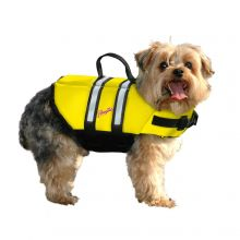 Nylon Dog Life Jacket (Color: Yellow, Size: Extra Extra Small)