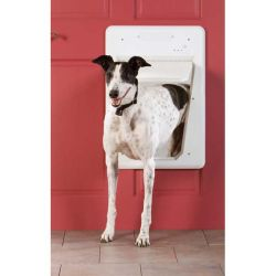 SmartDoor Dog Door (Color: White, Size: Large)