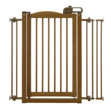 "One-Touch Pressure Mounted Pet Gate (Color: Autumn Matte, Size: 28.3"" - 35.8"" x 2"" x 34.6"")"