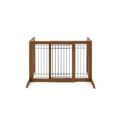 Freestanding Pet Gate (Color: Autumn Matte, Size: Small)