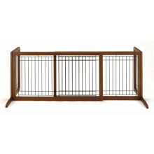Freestanding Pet Gate (Color: Autumn Matte, Size: Large)
