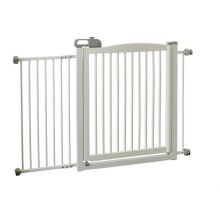 "One-Touch 150 Pressure Mounted Pet Gate (Color: White, Size: 35"" - 61"" x 2"" x 34.6"")"