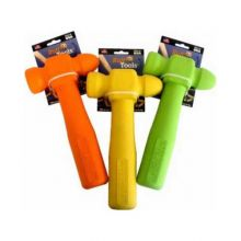 "Ruff Tools Hammer Dog Toy (Color: Yellow, Size: 8.5"" x 3.5"" x 1"")"
