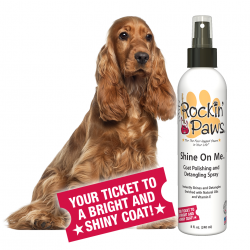 Rockin' Paws Shine On Me Polishing and Detangling Spray (Package Size: One Bottle)