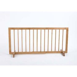 "Step Over Free Standing Pet Gate (Color: Light Oak, Size: 28"" - 51.75"" x 20"")"