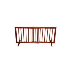 "Step Over Free Standing Pet Gate (Color: Walnut, Size: 28"" - 51.75"" x 20"")"