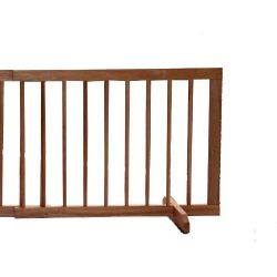 "Extension For Step Over Free Standing Gate (Color: Light Oak, Size: 22"" x 20"")"