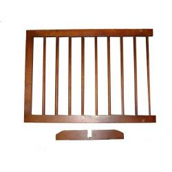 "Extension For Step Over Free Standing Gate (Color: Walnut, Size: 22"" x 20"")"