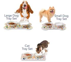 Sit N Stay Magnetic Bowls and Tray (Size: Good Kitty Tray Set)