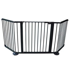 "VersaGate Hardware Mounted Pet Gate (Color: Black, Size: 40"" - 77.25"" x 30.5"")"