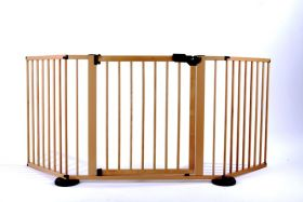 "VersaGate Hardware Mounted Pet Gate (Color: Wood, Size: 40"" - 77.25"" x 30.5"")"