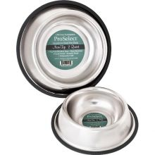 "No-Tip Non-Skid Stainless Steel Bowl (Color: , Size: 5"" x 5"" x 2"")"