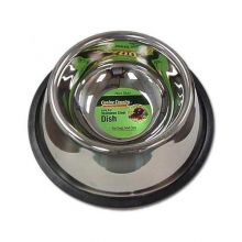 "No-Tip Non-Skid Stainless Steel Bowl (Color: , Size: 6"" x 6"" x 2"")"