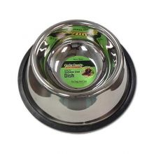 "No-Tip Non-Skid Stainless Steel Bowl (Color: , Size: 8"" x 8"" x 3"")"