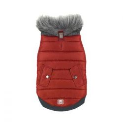 Banff Elasto-fit Dog Jacket - Sangria Red (Size: XX Small)