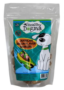 Healthy Dogma All Natural Dog Biscuits - Jamaican Bacon (Package Size: 8 ounce bag)