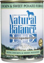 Natural Balance LID Chicken and Sweet Potato Canned Dog Food (Product Size: Chicken and Sweet Potato 6 oz Can)