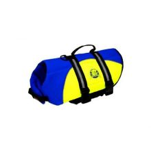 Neoprene Doggy Life Jacket - Blue/Yellow (Choose Life Jacket Size: XXS (extra extra small) pet up to 6 pounds)