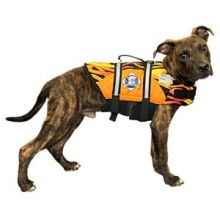 Designer Doggy Life Jacket - Flames (Choose Life Jacket Size: XXS (extra extra small) pet up to 6 pounds)
